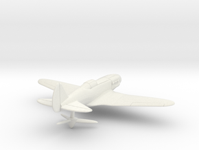 MiG-3 WW2 Soviet Fighter in White Natural Versatile Plastic: 1:144