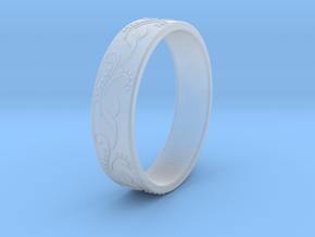 Floral ring in Smooth Fine Detail Plastic
