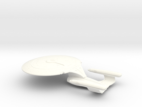 Federation of Planets - Enterprise D in White Processed Versatile Plastic