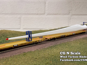 N Scale Wind Turbine Blades - 3 Pack (Part 2 of 2) in White Natural Versatile Plastic