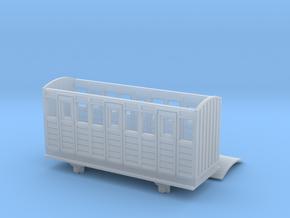 OO9 Talyllyn / Skarloey Railway Coach TYPE 1 in Smooth Fine Detail Plastic