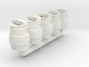 1/64 Cooler in White Natural Versatile Plastic