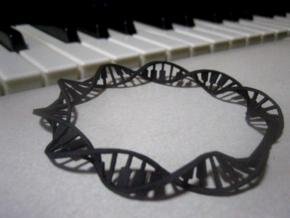 Twisted Piano Keyboard Cuff in Black Professional Plastic: Medium