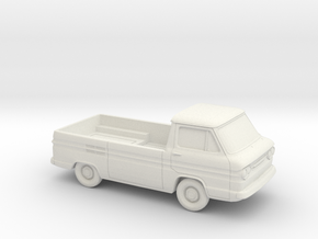 1/87 1961-65 Chevy Corvair Greenbrier PickUp in White Natural Versatile Plastic