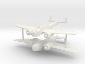 1/285 (6mm) Henschel Hs-124 (x2) in White Natural Versatile Plastic
