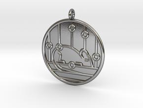Genetics Symbol in Polished Silver