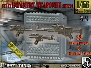 1/56 Sci-Fi Infantry Weaponry Set201 in Smooth Fine Detail Plastic