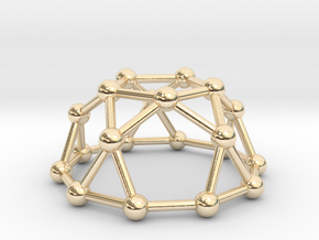 0736 J06 Pentagonal Rotunda V&E (a=1cm) #3 in 14k Gold Plated Brass