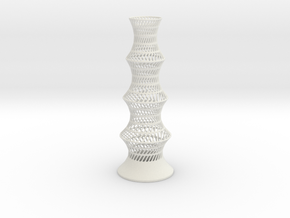 Vase W1656 in White Natural Versatile Plastic