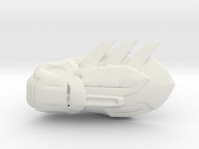 Batman Gauntlet Right in White Natural Versatile Plastic