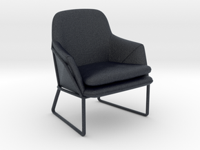 Miniature Frame Armchair - Made in Black PA12: 1:12