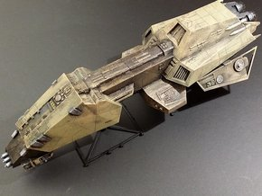 Interceptor Class Frigate 1/490 + 2 Large Stands in White Strong & Flexible