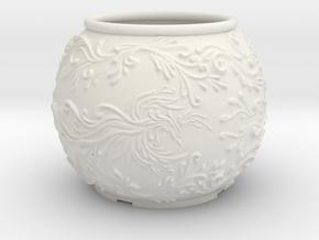Phoenix planter in White Natural Versatile Plastic: Large