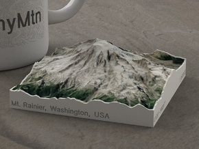 Mt. Rainier, Washington, USA, 1:150000 Explorer in Full Color Sandstone