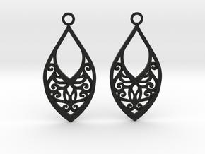 Edelmar earrings in Black Natural Versatile Plastic: Medium