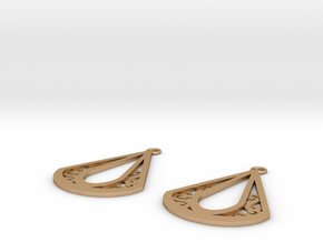 Calyson earrings in Natural Bronze: Small