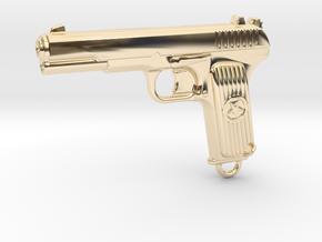 DETAILED TOKAREV TT33 in 14k Gold Plated Brass