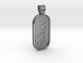 Triathlon [pendant] in Polished Silver