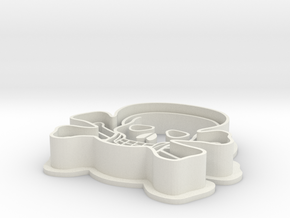 Skull Cookie Cutter in White Natural Versatile Plastic