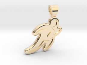 Running [pendant] in 14K Yellow Gold