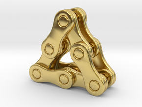 triangle of a bike chain [pendant] in Polished Brass