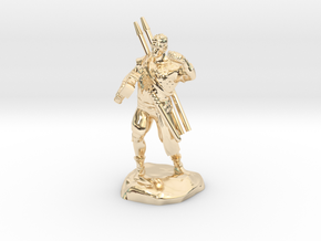 Half-orc pirate with Hammer and Net in 14k Gold Plated Brass