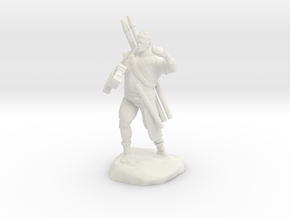 Half-orc pirate with Hammer and Net in White Natural Versatile Plastic