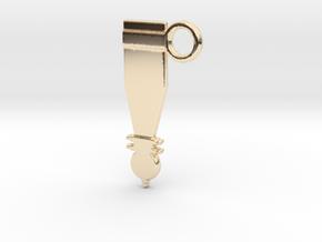 Hallstatt Dagger Sheath A in 14k Gold Plated Brass
