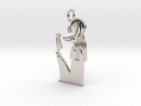 Wepwawet-Re amulet in Rhodium Plated Brass