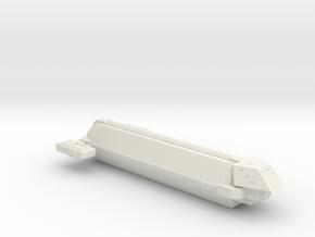 Omni Scale Kzinti Small Freighter (Class-I) SRZ in White Natural Versatile Plastic