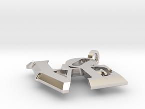 Love Sculpture pendant in Platinum