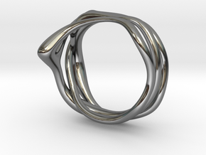 Euterpe ring in Fine Detail Polished Silver: 3 / 44