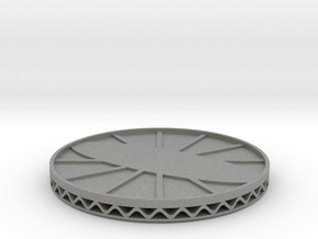 coaster engrave style 3 in Gray Professional Plastic