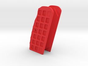 Tanfoglio Stock 2/3 Cutaway Grip (no holes) in Red Processed Versatile Plastic