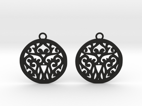 Elaine earrings in Black Natural Versatile Plastic: Small