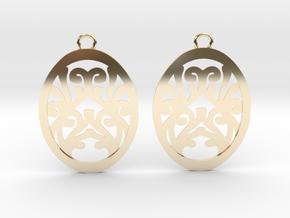 Olwen earrings in 14k Gold Plated Brass: Small
