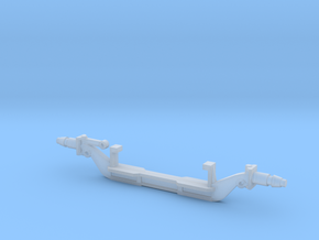 Pete 359 1/25 3mm front drop axle in Smooth Fine Detail Plastic