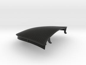 986 Driver Side Mesh Grille Wind Diffuser in Black Natural Versatile Plastic