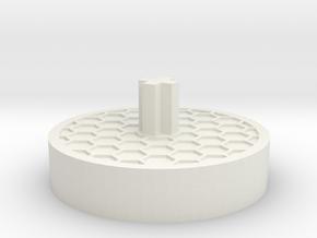 Accordion Handle in White Natural Versatile Plastic