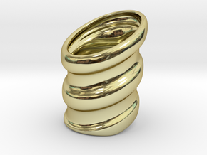 Dead Boys ring in 18k Gold Plated Brass
