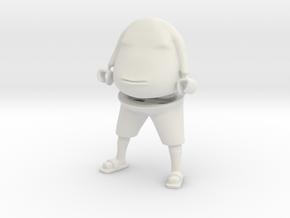 NECKY 1.0 - SMALL in White Natural Versatile Plastic