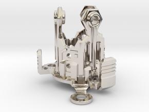 Graflex Mentor - Var2 Part08 - Crystal Gen Style1 in Rhodium Plated Brass