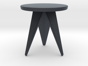 Miniature Q3 Coffee Table - Odesd2  in Black PA12: 1:12