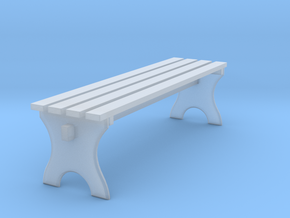 Miniature Park Wooden Bench in Smooth Fine Detail Plastic: 1:12