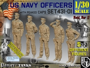 1/30 USN Officers Set431-01 in White Natural Versatile Plastic