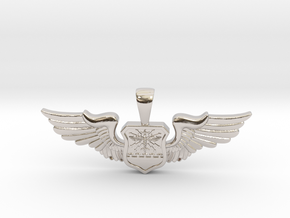 Wingwoman - Navigator Pendant in Rhodium Plated Brass