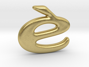 LOGO pendant 02 in Natural Brass