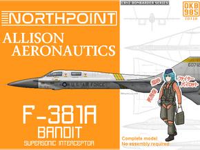 F-381A Bandit Interceptor Aircraft in Black Natural Versatile Plastic