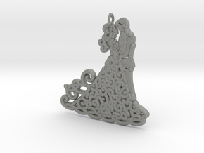 Dancing Couple 15mm Metal  in Gray Professional Plastic