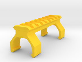 MP5 Picatinny Rail (8 Slots) in Yellow Processed Versatile Plastic